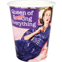 8 Queen Of F*cking Everything Paper Cups