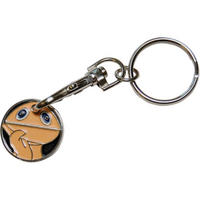 View Item Rainbow Zippy Shopping Trolley Token/Coin Keyring