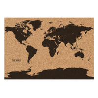 World Map Cork Board