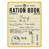 Ration Book Fridge Magnet