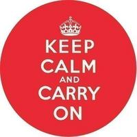 """Keep Calm And Carry On"" Handbag/Button Mirror"