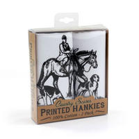 2 Pack Of Hunting Scene Hankies