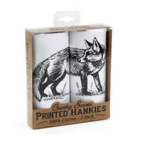 2 Pack Of Fox Hankies