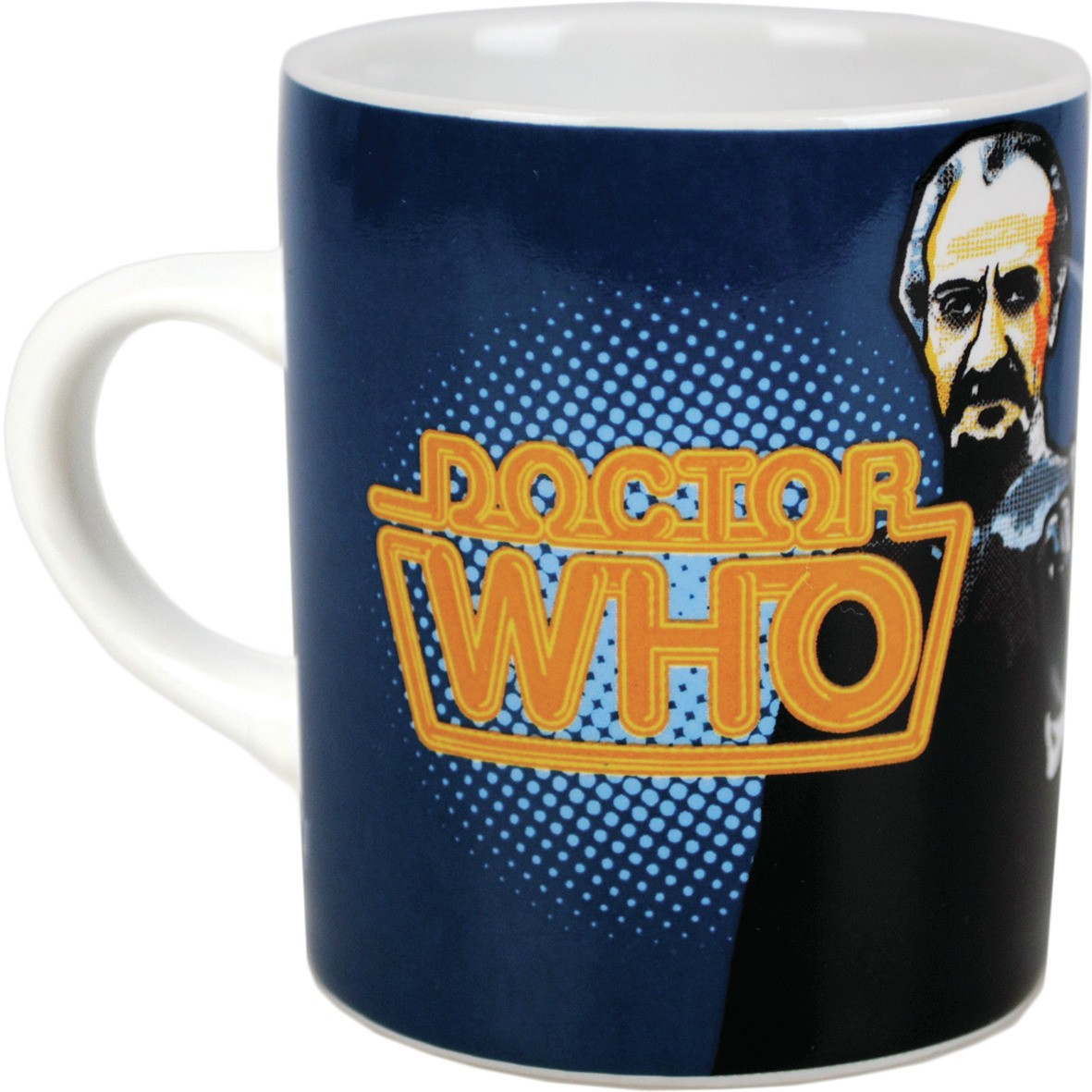 NEW 3RD DOCTOR WHO JON PERTWEE BOXED MUG RETRO DALEKS DR TARDIS CUP GIFT CERAMIC