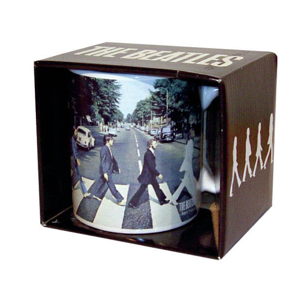 NEW THE BEATLES ABBEY ROAD BOXED MUG CERAMIC COFFEE CUP UK LP GIFT TEA LENNON
