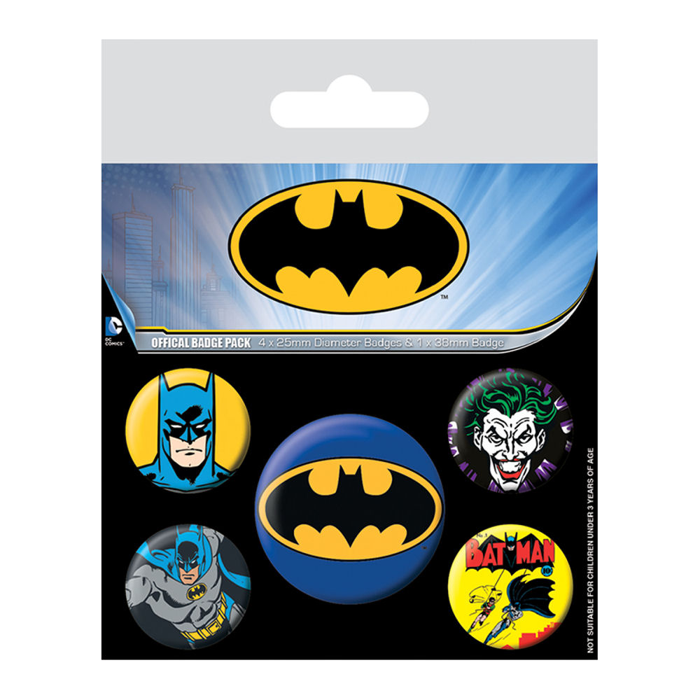 Batman Logo Badge Set