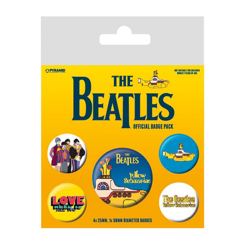 The Beatles Yellow Submarine Badge Set