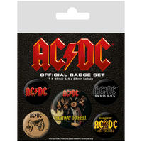 AC/DC Badge Set