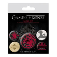 Game Of Thrones Blood & Fire Badge Set