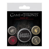 Game Of Thrones Great Houses Badge Set