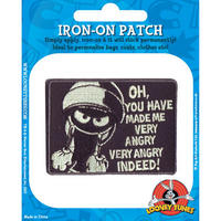 View Item Looney Tunes Marvin The Martian Embroidered Iron-On Patch