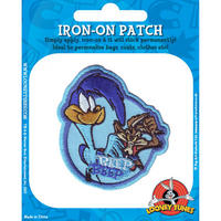 View Item Looney Tunes Road Runner & Wile E Coyote Embroidered Iron-On Patch