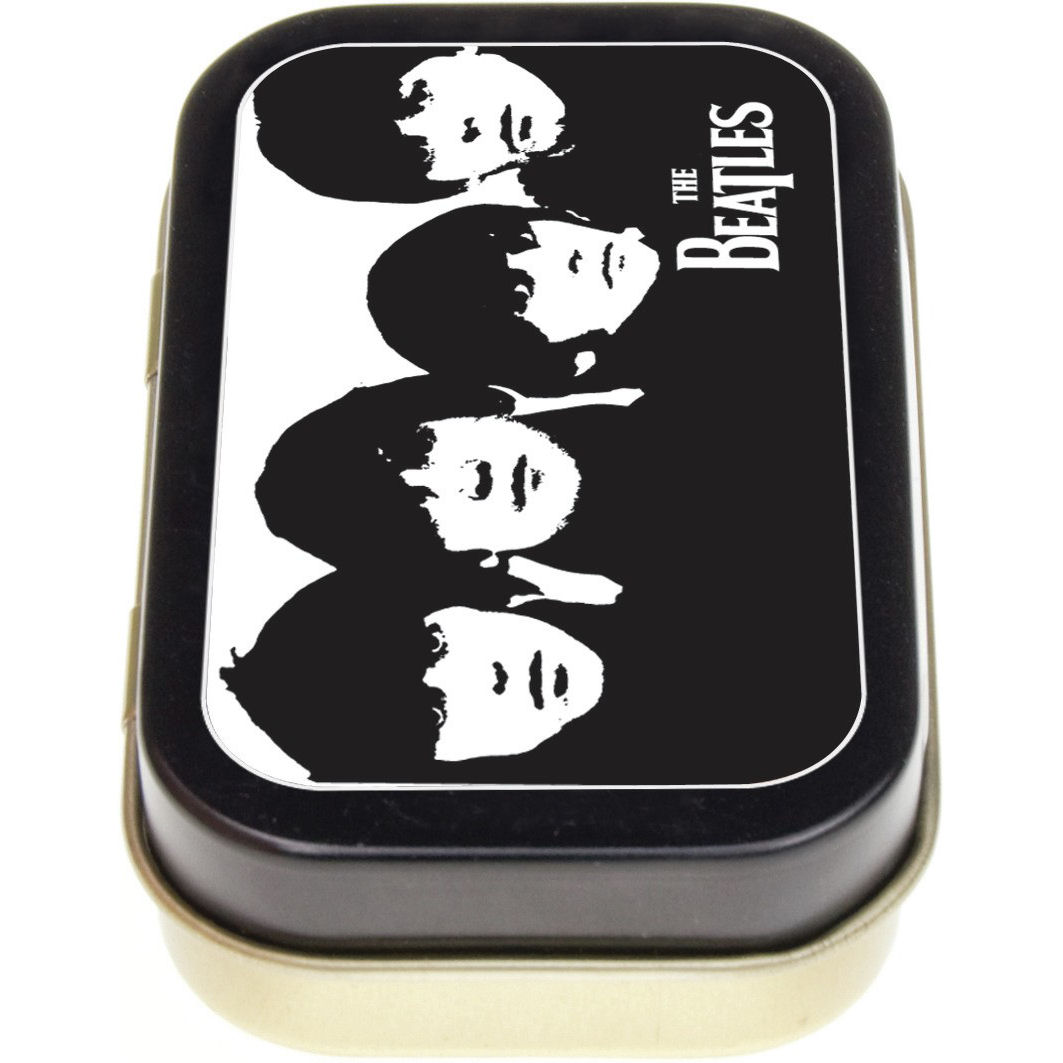 The Beatles Black & White Faces Keepsake/Pill Tin