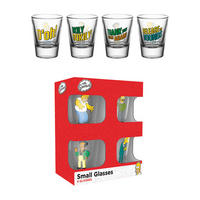 The Simpsons Set of 4 Shot Glasses