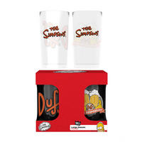 The Simpsons Duff Beer Set Of 2 Glasses
