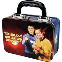 "View Item Star Trek Spock & Kirk ""It's Life But Not As We Know it!"" Tin Tote/Lunch Box"