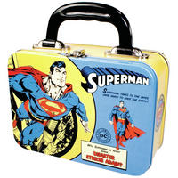 View Item Superman Classic Cartoon Strip Tin Tote/Lunch Box