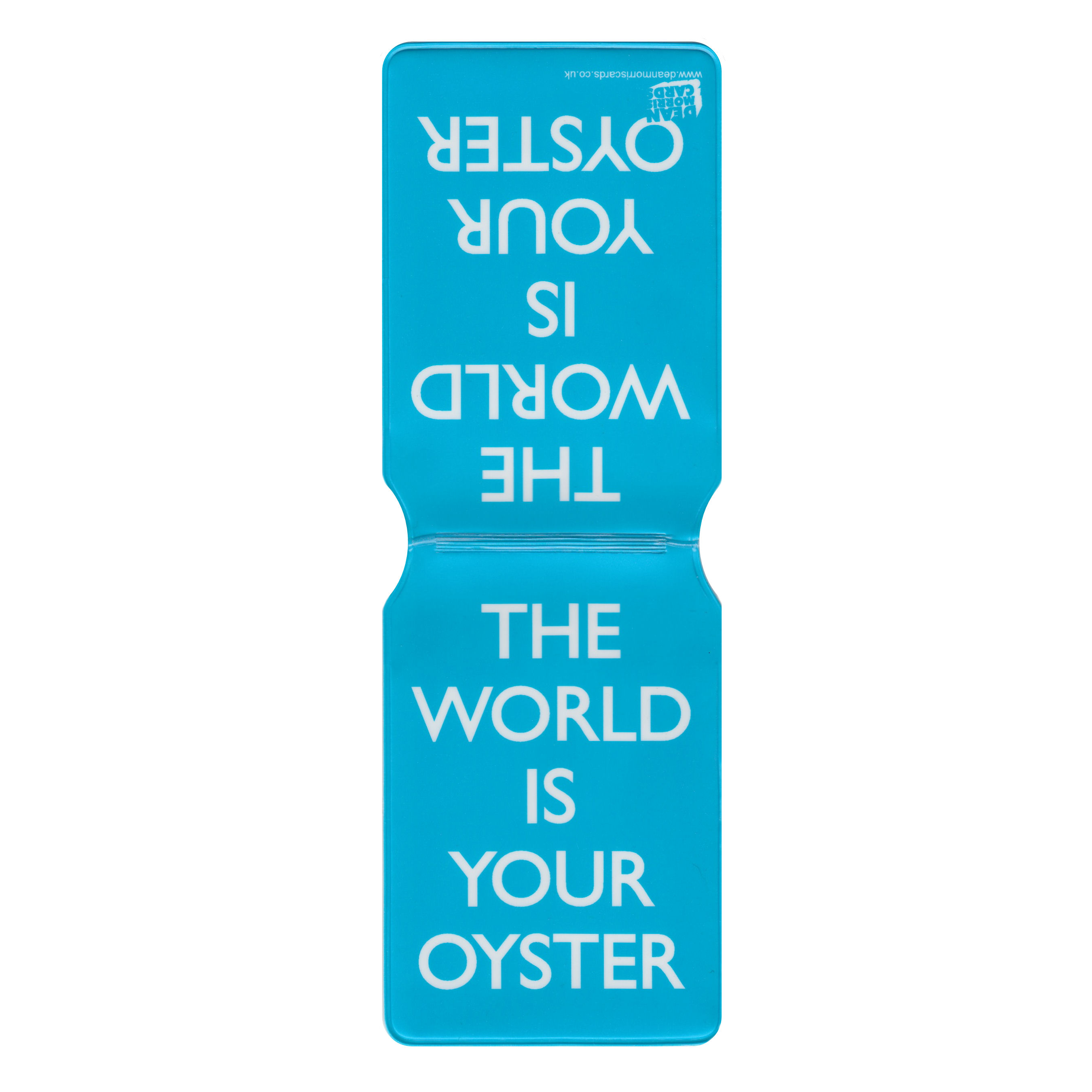 """The World Is Your Oyster"" Travel/Oyster Card Holder (blue)"