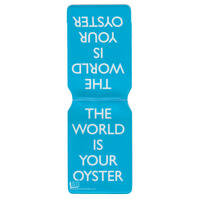 """View Item """"The World Is Your Oyster"""" Travel/Oyster Card Holder (blue)"""