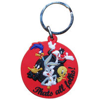 Looney Tunes Characters Rubber Keyring