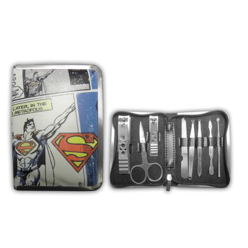 8 Piece Superman Nail Manicure/Grooming Kit