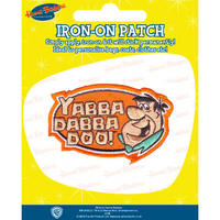 "View Item Fred Flintstone ""Yabba Dabba Doo!"" Embroidered Iron-On Patch"