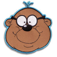 Penfold Face Embroidered Iron-On Patch Thumbnail 1