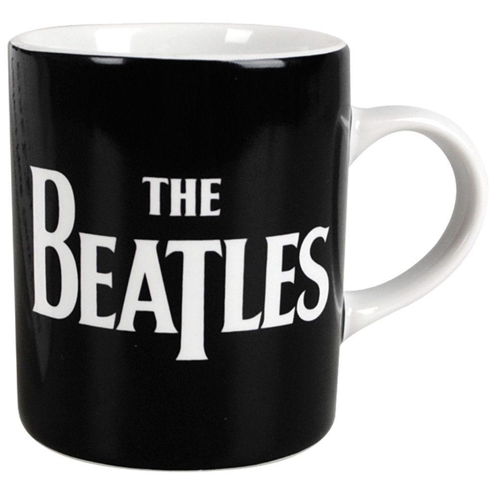 NEW BEATLES LOGO BOXED MINI ESPRESSO MUG LENNON APPLE COFFEE CUP GIFT OFFICIAL