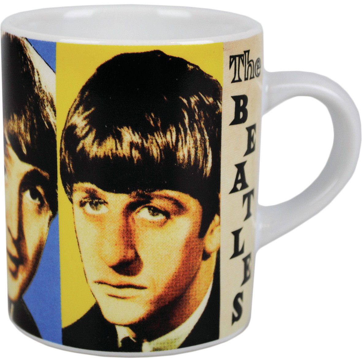 BEATLES FACES MINI ESPRESSO MUG LENNON RINGO CERAMIC COFFEE CUP GIFT OFFICIAL