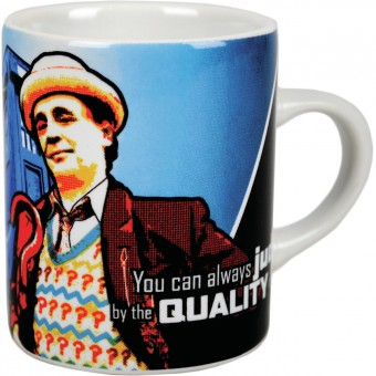NEW 7TH DOCTOR WHO BOXED MINI ESPRESSO MUG SYLVESTER COFFEE CUP GIFT OFFICIAL