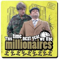 """View Item Only Fools And Horses """"This Time Next Year We'll Be Millionaires"""" Single Coaster"""