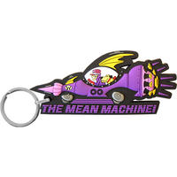 Wacky Races Mean Machine Rubber Keyring