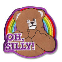 "View Item Rainbow Bungle ""Oh Silly!"" Embroidered Iron-On Patch"