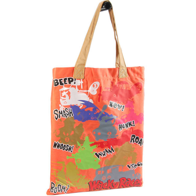 NEW WACKY RACES SHOPPER BAG FASHION TOTE RETRO CANVAS PITSTOP MUTTLEY DASTARDLY