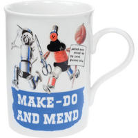 Make Do And Mend Traditional Mug