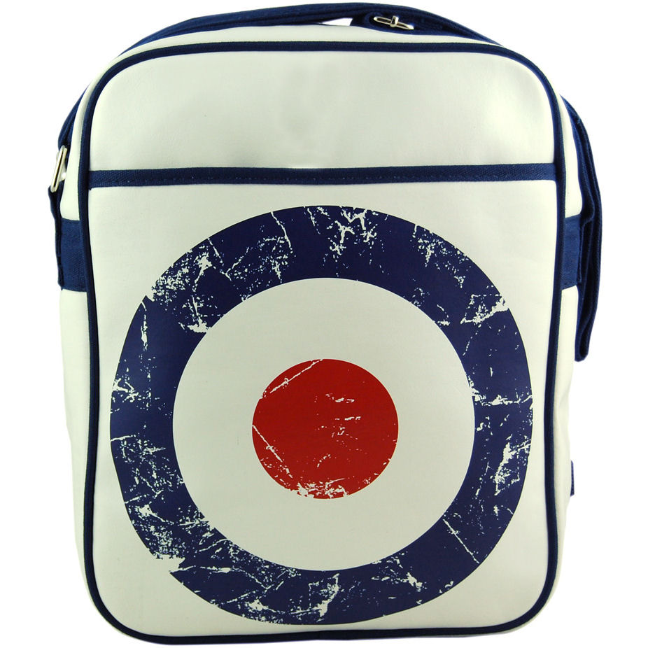 NEW MOD TARGET FLIGHT BAG VINTAGE BAGS RETRO RAF SYMBOL TARGET SHOULDER SPORTS