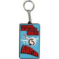 """Airplane """"Don't Call Me Shirley!"""" Rubber Keyring"""