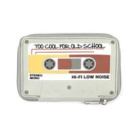 "Audio Cassette Tape ""Too Cool For Old School"" Zipped Purse"