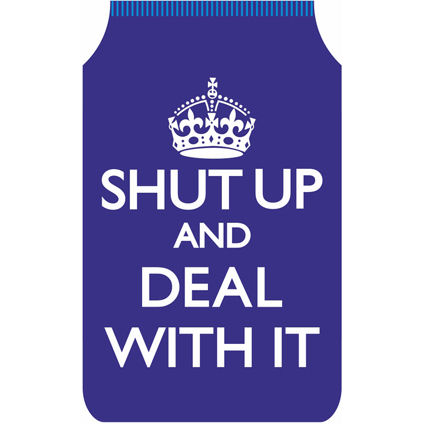 NEW SHUT UP AND DEAL WITH IT TRAVEL CARD HOLDER OYSTER MONEY WALLET