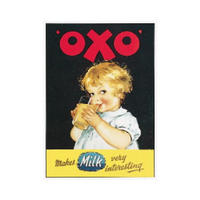 "OXO ""Makes Milk Very Interesting"" Postcard"