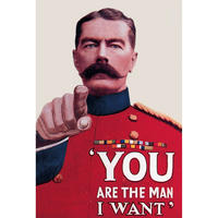 "Kitchener ""You Are The Man I Want"" Postcard"