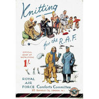 Knitting For The RAF Postcard