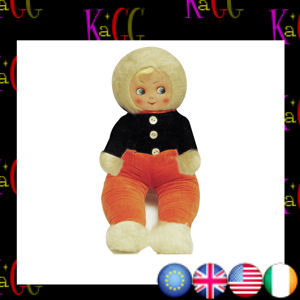 NEW LARGE SHAPED 1930S DOLL RETRO POSTCARD OFFICIAL VINTAGE IMAGE ROBERT OPIE