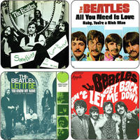 The Beatles Singles Covers Coaster Set Vol.2 (4 Coasters)
