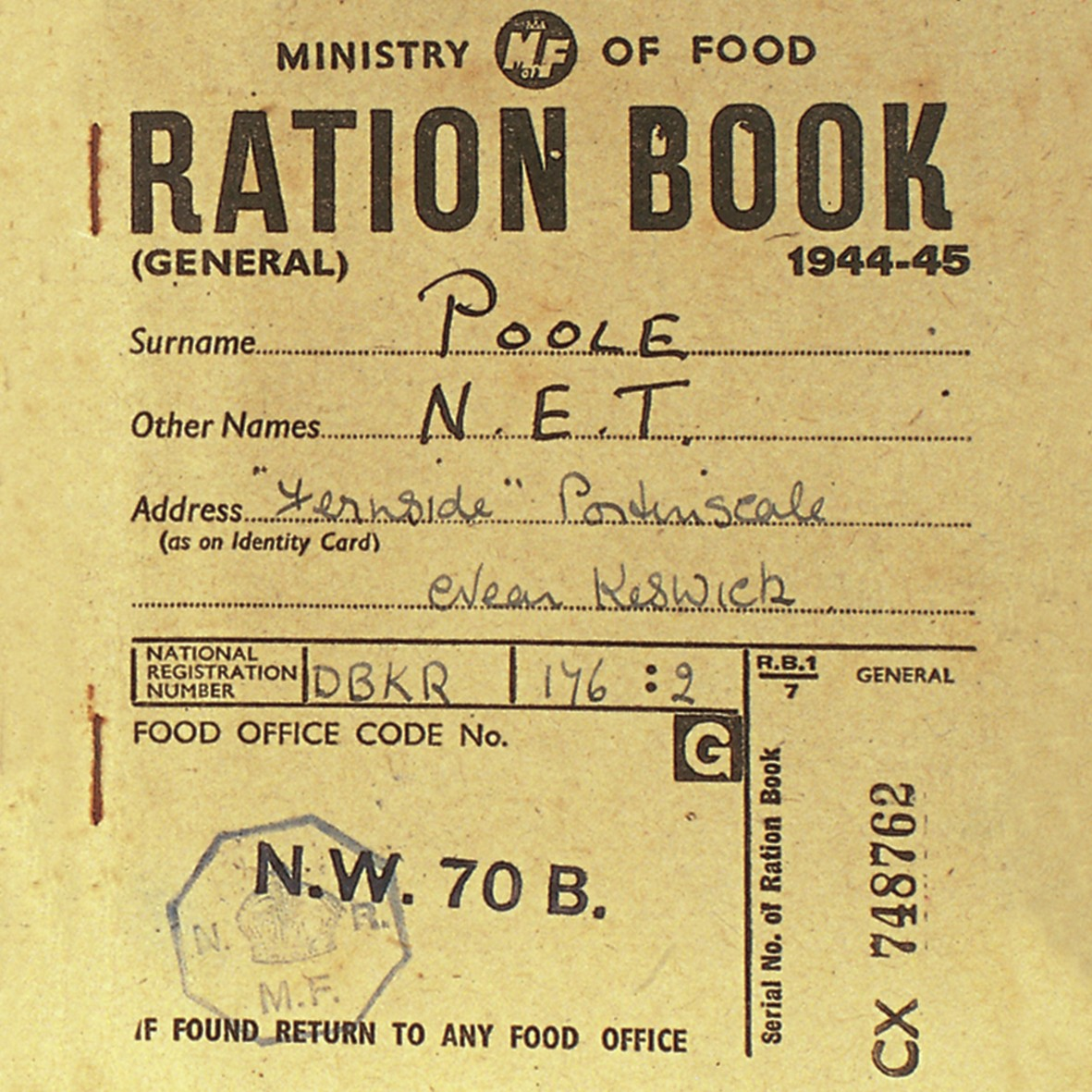 Germany Food Ration Stamps