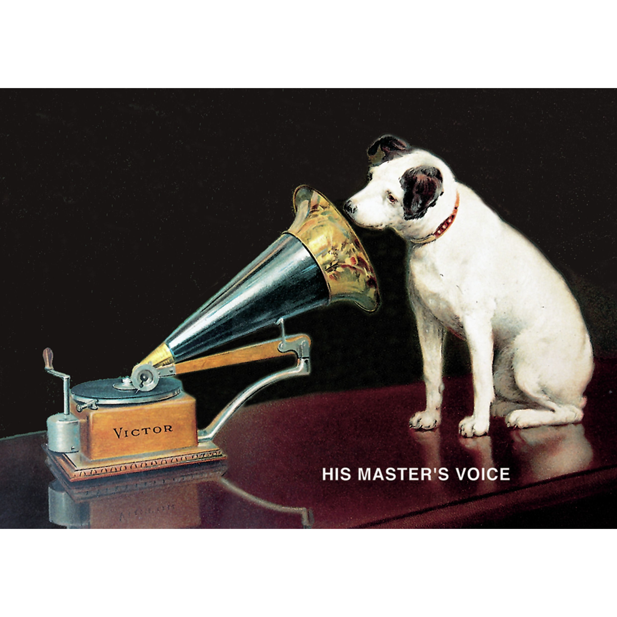 NEW HMV HIS MASTERS VOICE RETRO POSTCARD OFFICIAL VINTAGE IMAGE OPIE NIPPER DOG