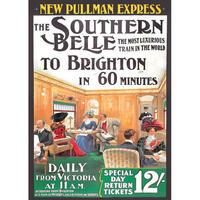 Southern Belle London To Brighton Postcard