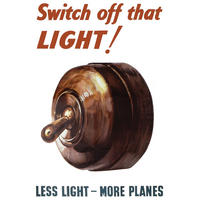 Switch Off That LIGHT! Wartime Postcard