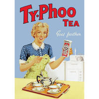 TyPhoo Tea Goes Further Postcard