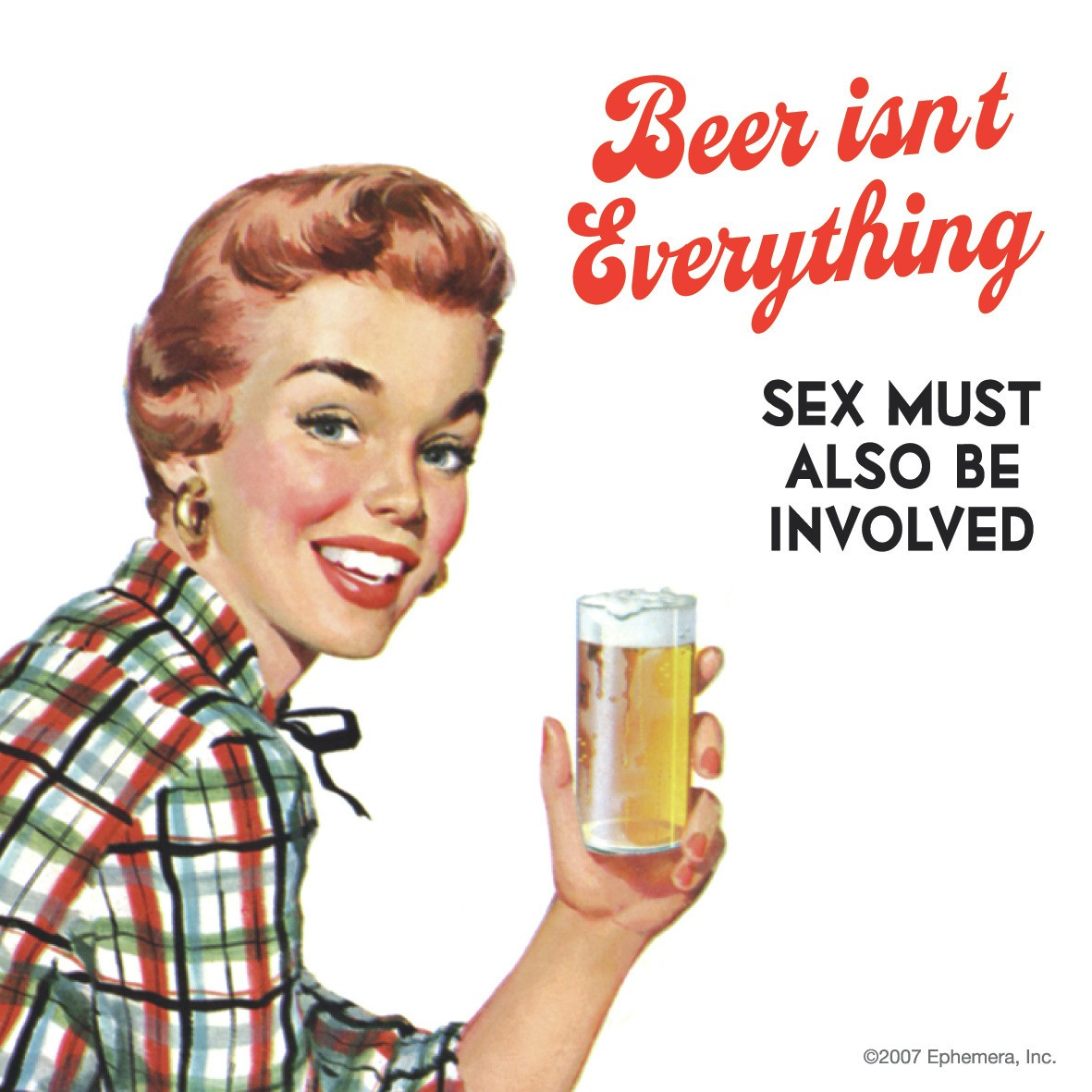 Beer Isn't Everything Sex Must Also Be Involved Single Coaster Preview